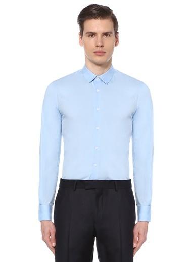 Uzun Kollu Slim Fit Gömlek-Gravitas